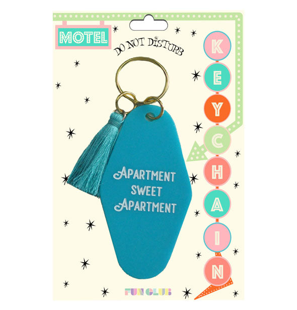 Fun Club - Apartment Sweet Apartment Motel Keychain With Tassel (4460686180422)
