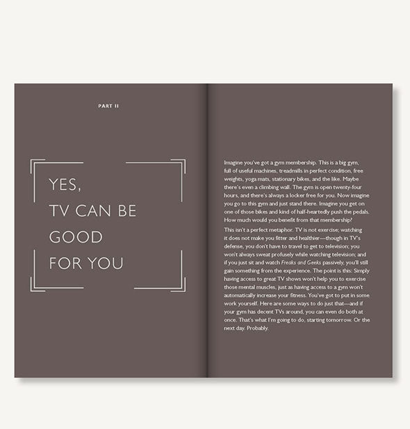 Page spread of How TV Can Make You Smarter