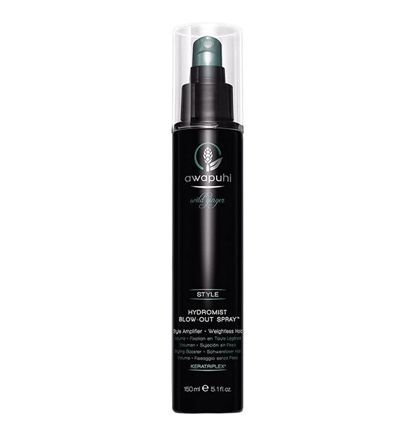 A bottle of Paul Mitchell Awapuhi Wild Ginger HydroMist Blow-Out Spray for Weightless Hold 5.1 fl OZ