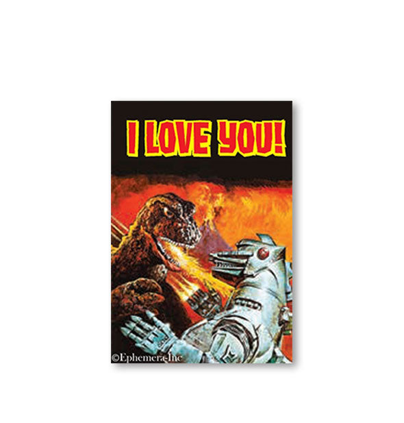 I Love You! Godzilla Magnet