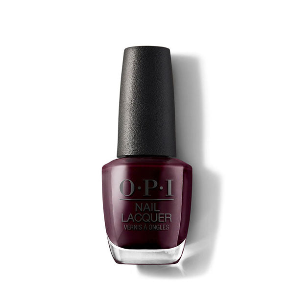dark burgundy shiny nail polish