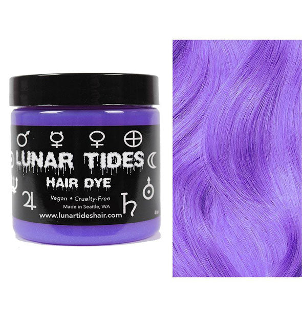 semi permanent hair dye in iris purple