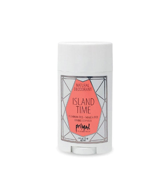 Aluminum-Paraben-Soy Free ISLAND TIME Natural Deodorant 2.65 Oz by Primal Elements