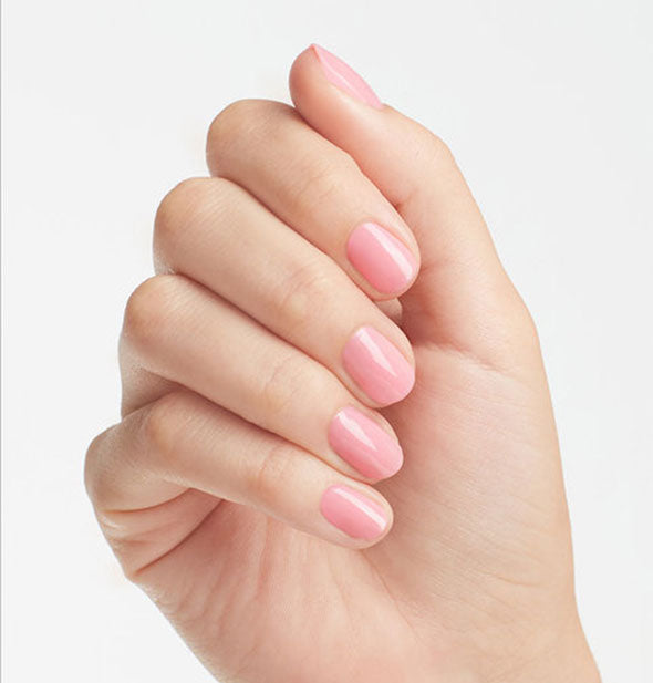 cotton candy pink shiny nail polish