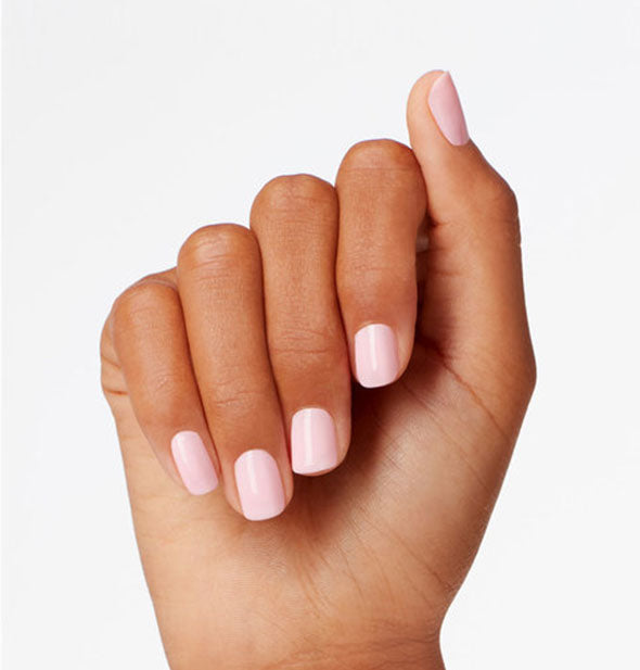 sheer light pink shiny nail polish