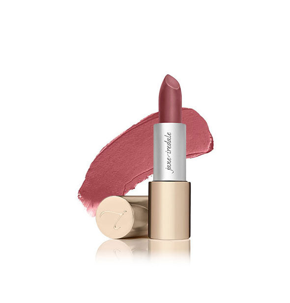 A tube of Jane Iredale Triple Luxe lipstick in the shade Jackie
