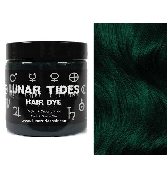 semi permanent hair dye in juniper green