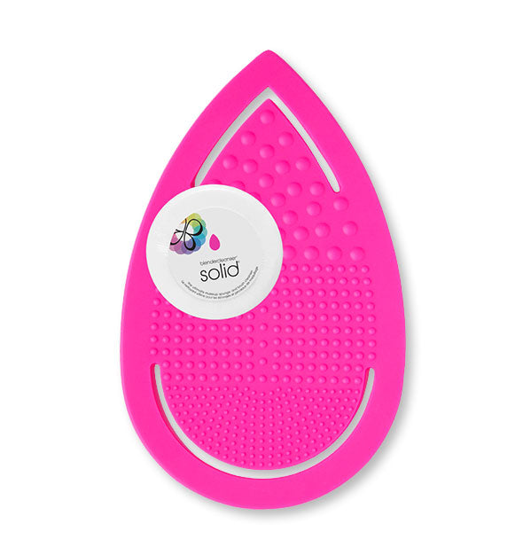 Textured pink pad with Solid cleansing disc