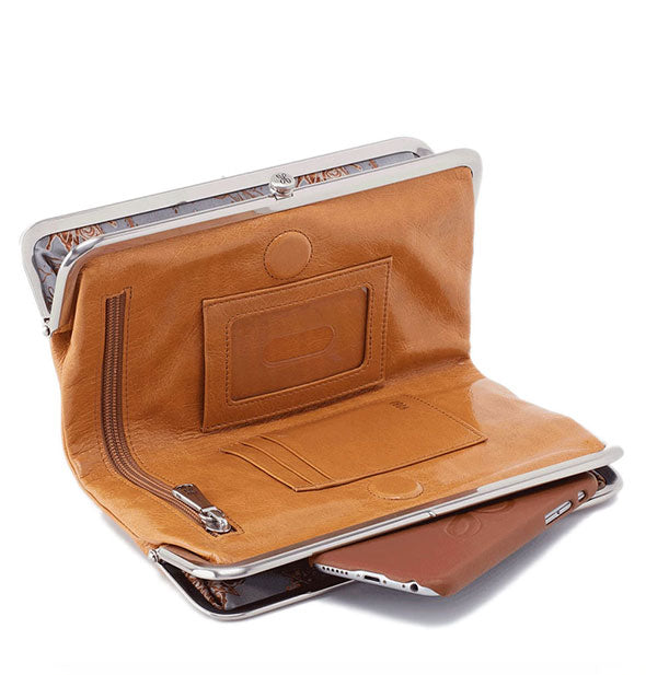 honey brown leather wallet