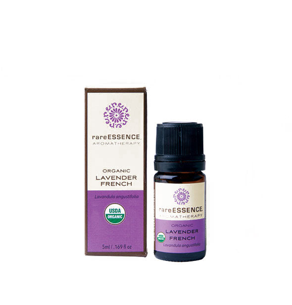 A bottle of Organic French Lavender 5ml from Rare Essence Aromatherapy