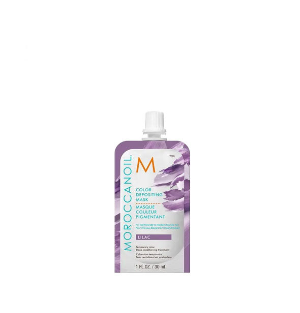 1 ounce pack of Moroccanoil Color Depositing Mask in Lilac