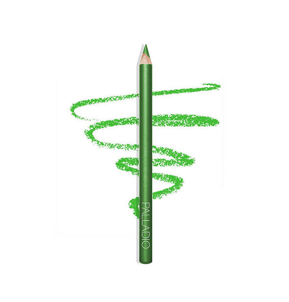 LIME GREEN Eyeliner Pencil with sketch example of texture and color
