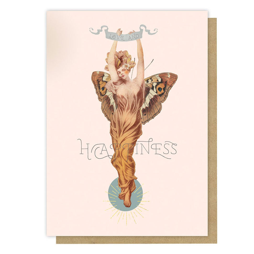 The Love And Happiness Butterfly Woman Card