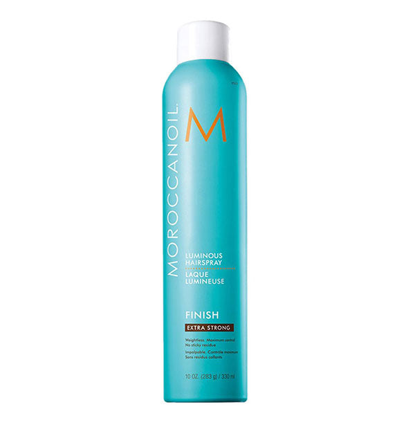10 ounce can of Moroccanoil Luminous Hairspray: Extra Strong hold