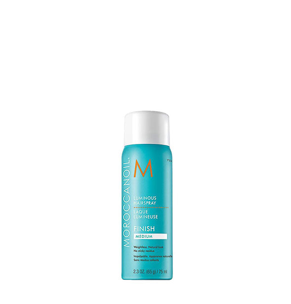 2.3 ounce can of Moroccanoil Luminous Hairspray: Medium hold