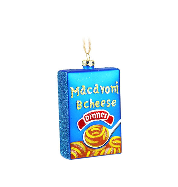 Macaroni & Cheese Dinner box ornament with string