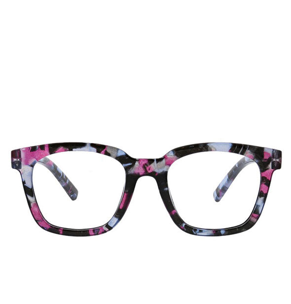 Front view of Peepers To the Max Readers in Pink Quartz.