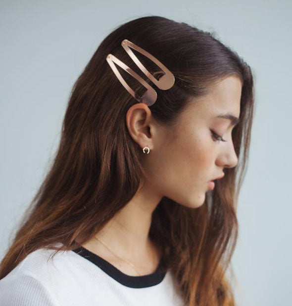 XL Snap Clips in rose gold