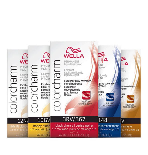 Assorted colors of Permanent Liquid Haircolor