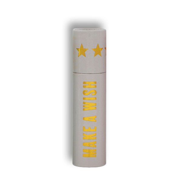 Make a Wish matchbox tube with gold foil detail