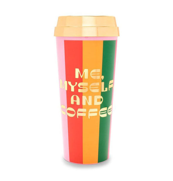 ban.do - Deluxe Hot Stuff Thermal Mug: Me, Myself, and Coffee