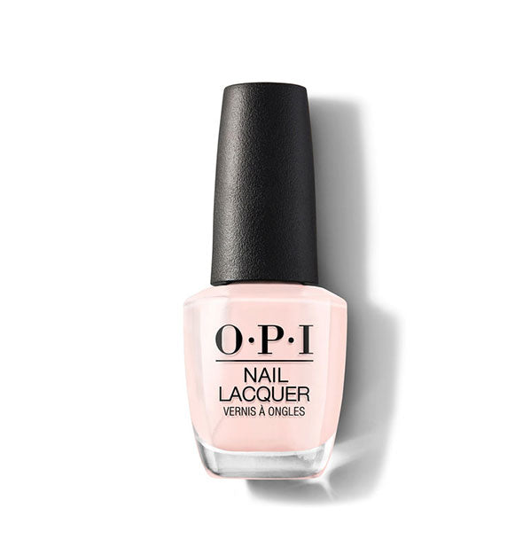 light peachy pink shiny nail polish