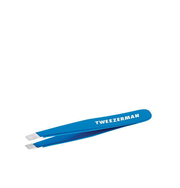 Tweezerman Stainless Steel Mini Slant Tweezer - Bahama Blue
