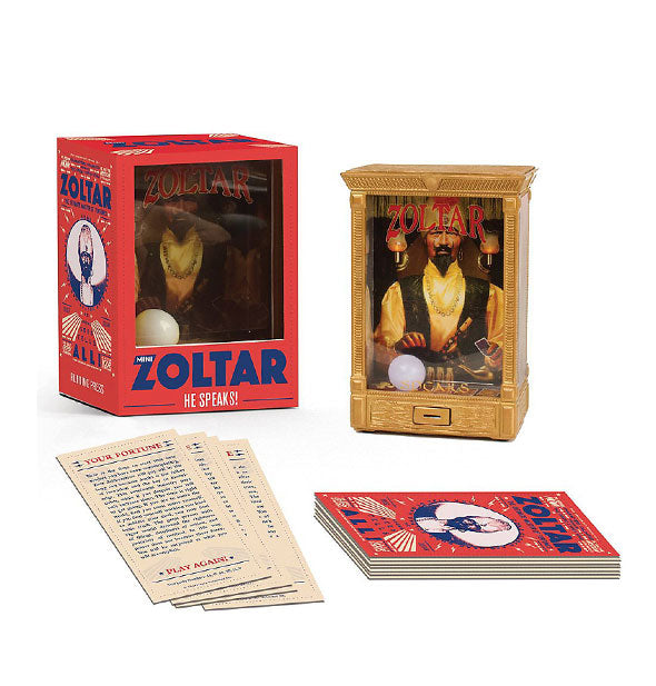 Mini Zoltar: He Speaks! kit with components shown