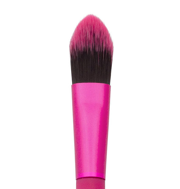 A close-up view of The Moda Pointed Foundation Hot Pink Brush