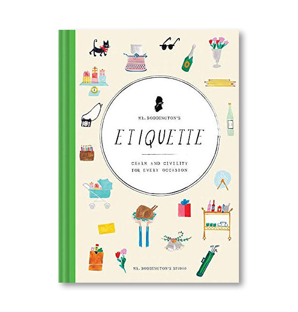 Illustrated cover of Mr. Boddington's Etiquette: Charm and Civility for Every Occasion