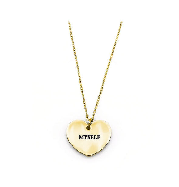 Metal Myself Heart Necklace in gold