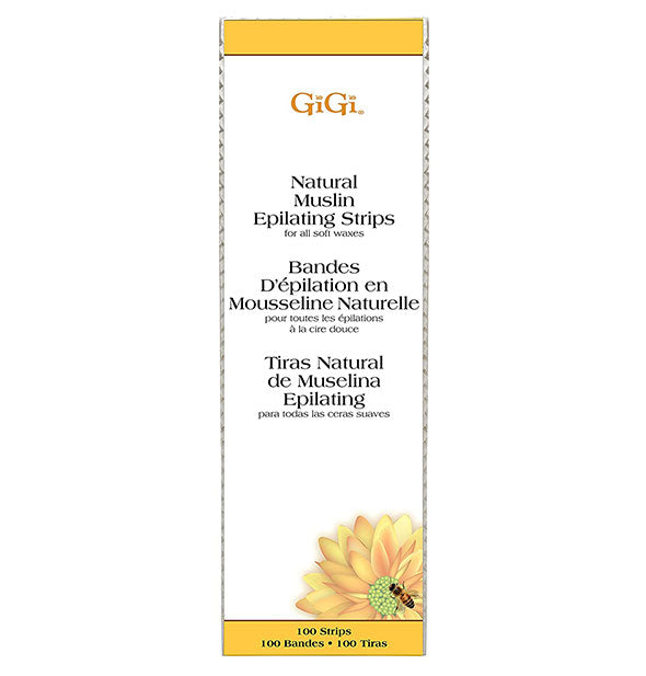 Natural Muslin Epilating Wax Strips Large