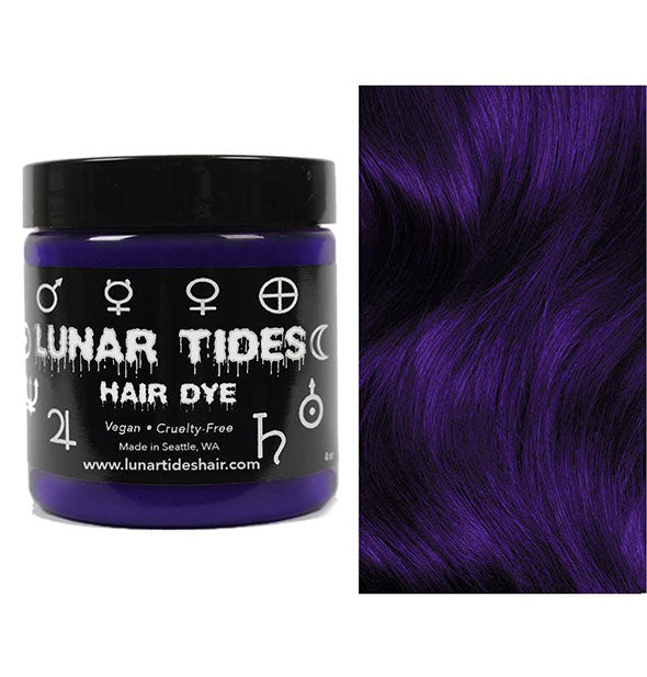 semi permanent hair dye in night shade blue