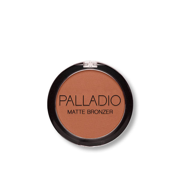 A compact of Palladio Matte Bronzer in the shade Nude Beach.