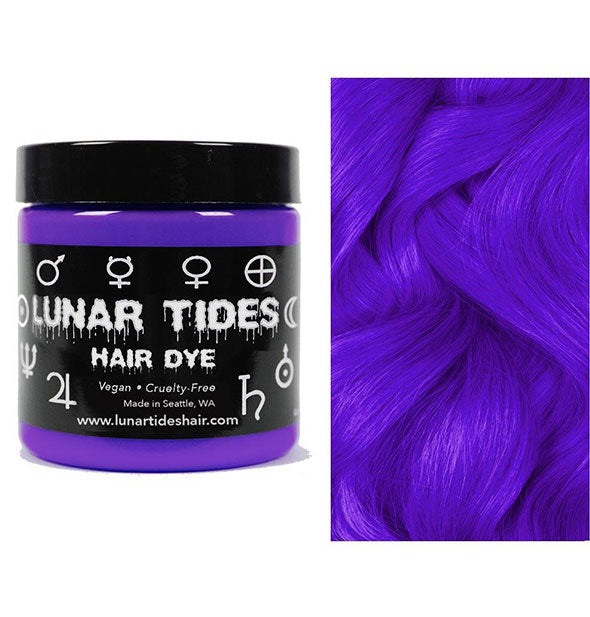 semi permanent hair dye in orchid purple