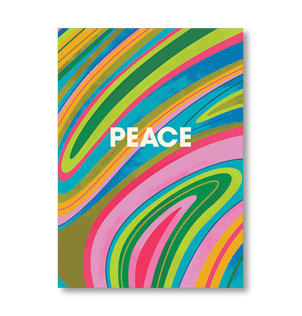 Cover of the Peace Journal with multicolor swirls