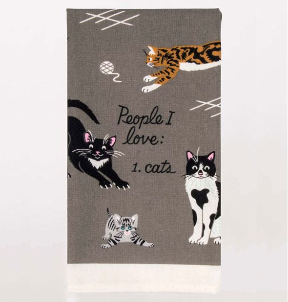 Blue Q - People I Love: Cats Printed Dish Towel (4460494389318)