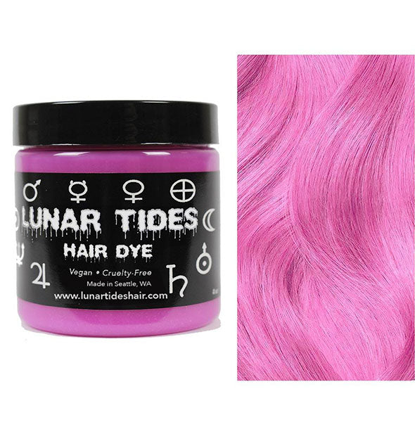 semi permanent hair dye in petal pink