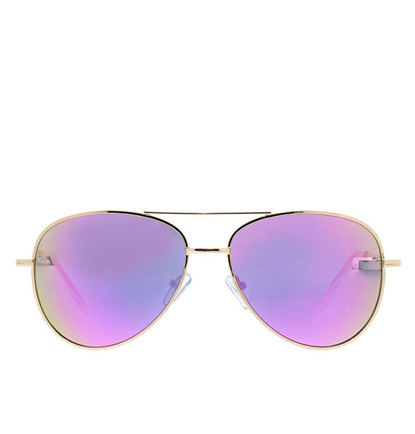 Front view of Peepers Heat Wave Polarized Sunglasses in Pink.