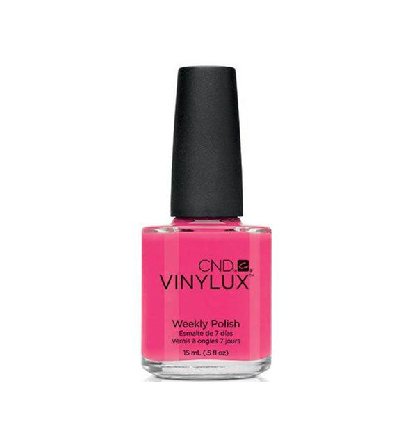 A bottle of weekly polish in the shade Pink Bikini.