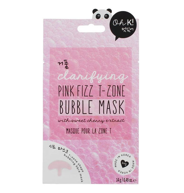 Clarifying Pink Fizz T Zone Bubble Sheet Mask