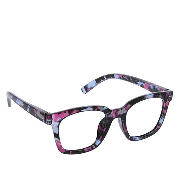 Angled view of Peepers To the Max Readers in Pink Quartz.