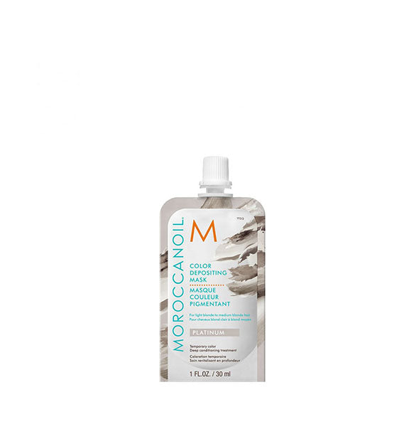 1 ounce pack of Moroccanoil Color Depositing Mask in Platinum