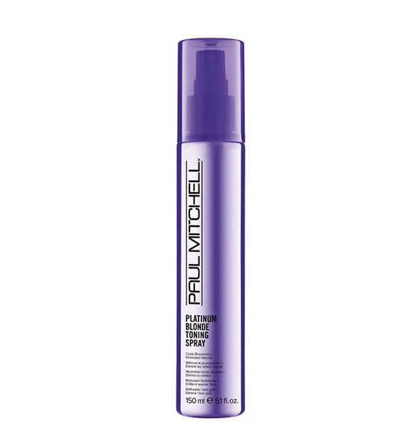 A Bottle of Paul Mitchell Platinum Blonde Toning Spray