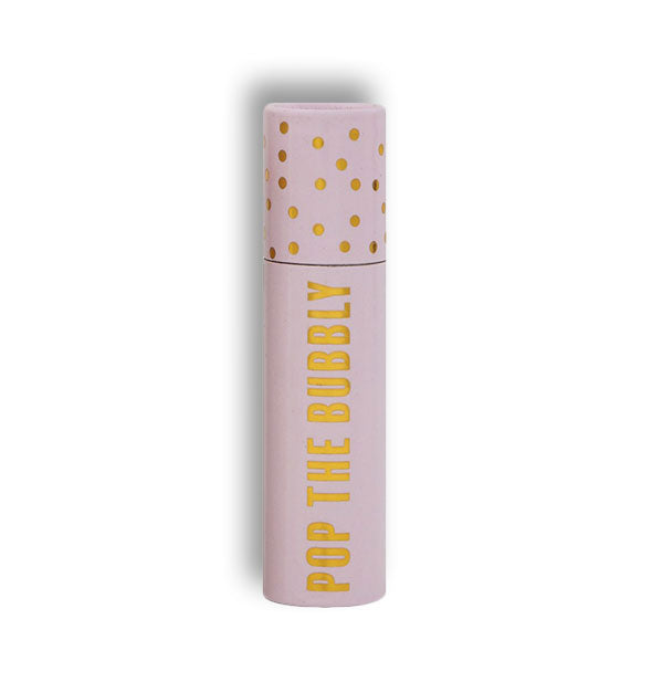 Pop the Bubbly matchbox tube with gold foil detail
