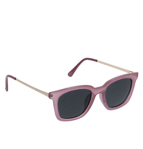 Angled view of Peepers Endless Summer Sunglasses in Purple.