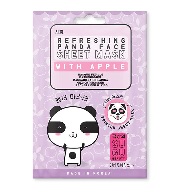 Refreshing Apple Panda Face Sheet Mask by SUGU