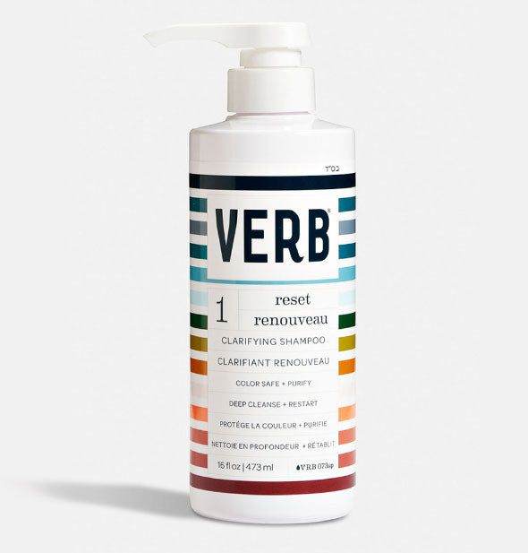 A Bottle of Verb Reset Clarifying Shampoo 16 oz