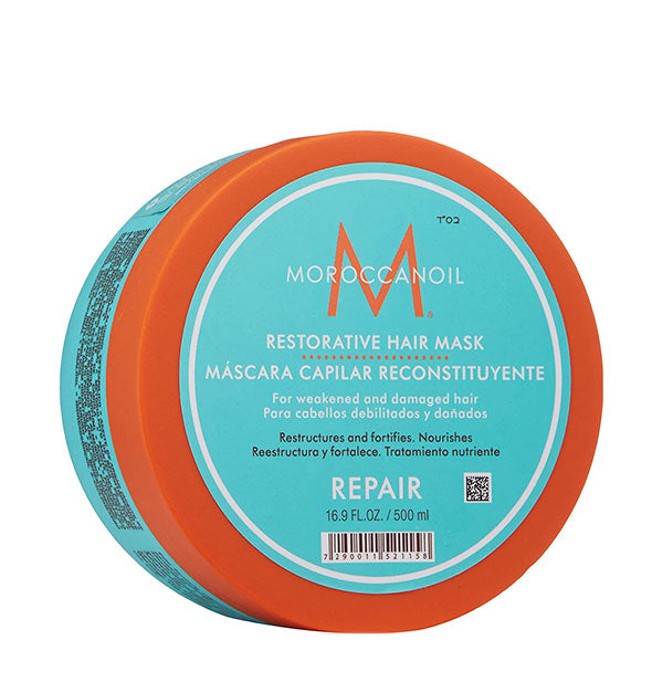 16.9 ounce tub of Moroccanoil Restorative Hair Mask