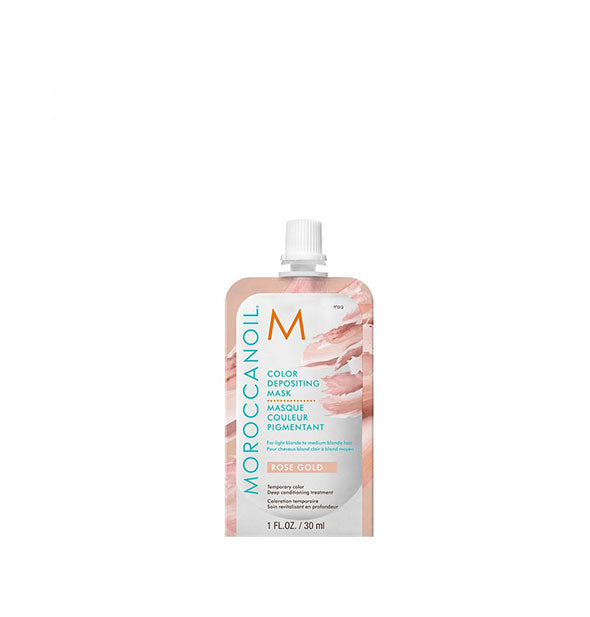 1 ounce pack of Moroccanoil Color Depositing Mask in Rose Gold